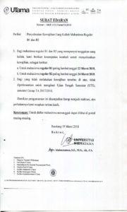 Kewajiban Uang Kuliah Mahasiswa Reguler B1 dan B2
