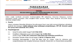 Kuliah Semester Pendek Tahun Akademik 2017/2018
