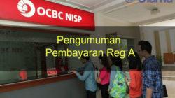 Pengumuman Pembayaran Reg A