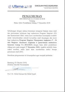 Batas Akhir Pendaftaran Sidang 17 Desember 2018