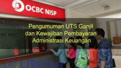 Pengumuman UTS Ganjil dan Kewajiban Pembayaran Administrasi Keuangan