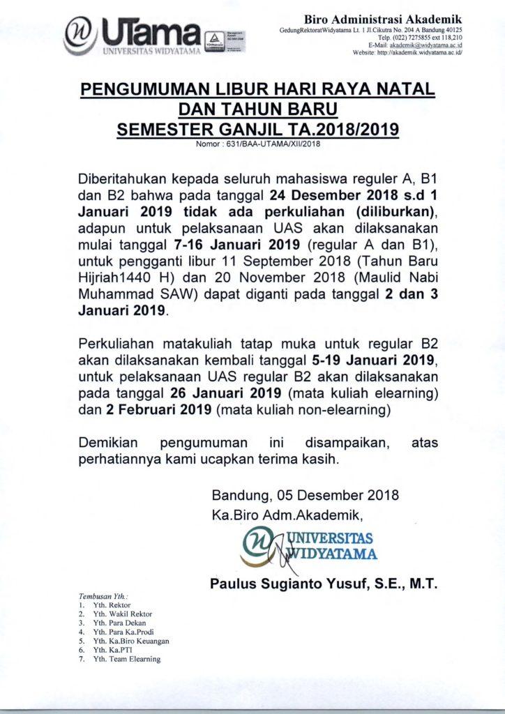 PENGUMUMAN LIBUR NATAL DAN TAHUN BARU SEM GANJIL TA 2018-2019 UNTUK MAHASISWA (1)