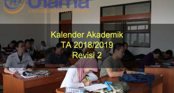 Kalender Akademik TA 2018/2019 Revisi 2