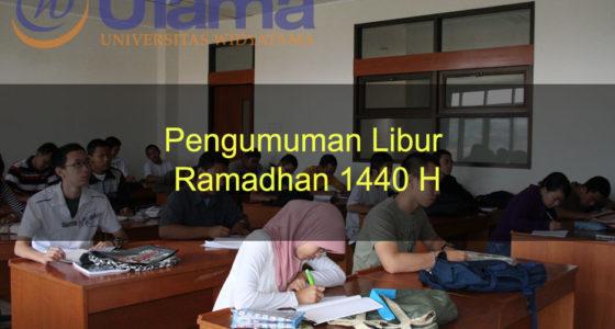 Pengumuman Libur Ramadhan 1440 H