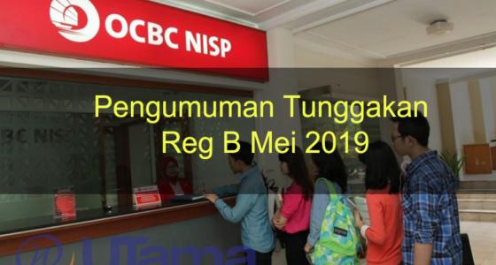 Pengumuman Tunggakan Reg B Mei 2019