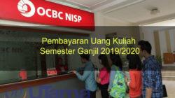 Pembayaran Uang Kuliah Semester Ganjil 2019/2020