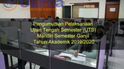 Pengumuman Pelaksanaan Ujian Tengah Semester (UTS) Mandiri Semester Ganjil Tahun Akademik 2019-2020