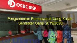 Pengumuman Pembayaran Uang Kuliah Semester Ganjil 2019/2020