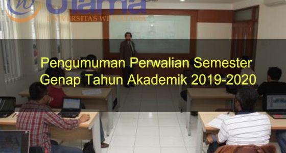 Pengumuman Perwalian Semester Genap Tahun Akademik 2019-2020