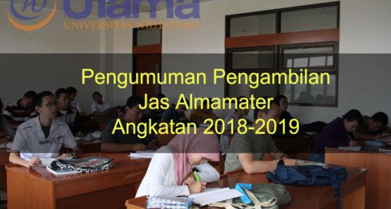 Pengumuman Pengambilan Jas Almamater Angkatan 2018-2019
