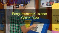 Pengumuman Kuisioner GBHK 2020