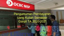 Pengumuman Pembayaran Uang Kuliah Semester Ganjiil TA 2020-2021 Revisi