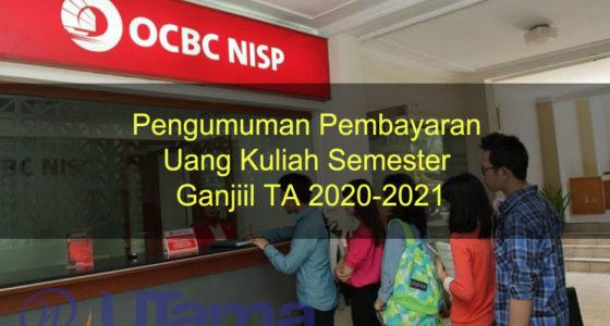 Pengumuman Pembayaran Uang Kuliah Semester Ganjiil TA 2020-2021