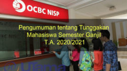 Pengumuman tentang Tunggakan Mahasiswa Semester Ganjil T.A. 2020/2021