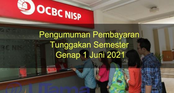 Pengumuman Pembayaran Tunggakan Semester Genap 1 Juni 2021