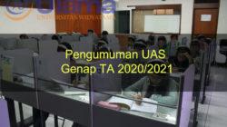 Pengumuman UAS genap TA 2020/2021