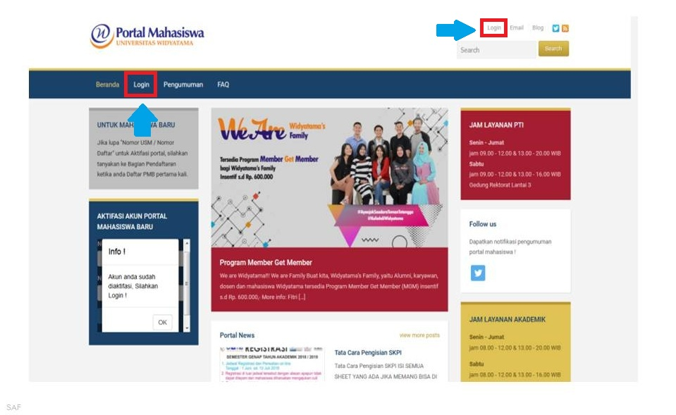 Aktivasi Portal Mahasiswa 3