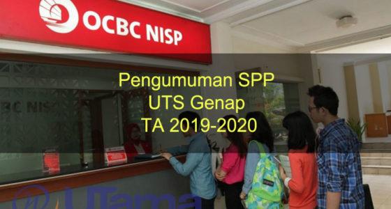 Pengumuman SPP UTS Genap TA 2019-2020