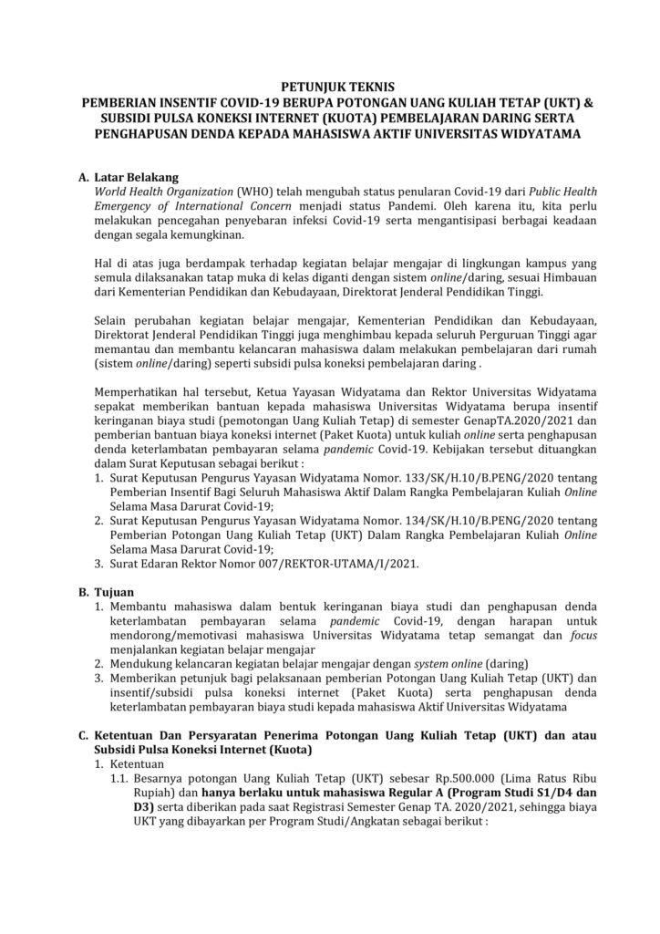 Petunjuk Teknis Pemberian Insentif Covid 2 Revisi