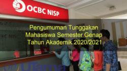 Pengumuman Tunggakan Mahasiswa Semester Genap Tahun Akademik 2020/2021